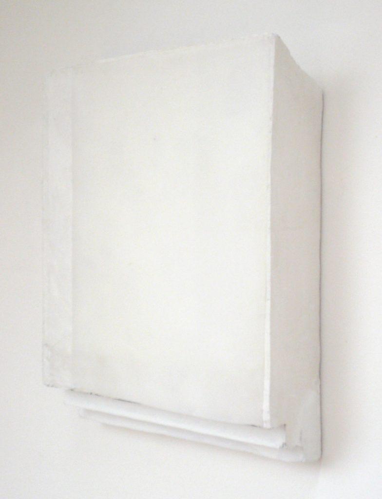 White stairs, 45x65x10 cm, styrofoam, plaster, paper, 2008, Sophia Solaris