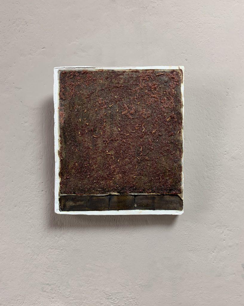 Detail 1/18, plaster, natural materials, Museum of Art Malchow, 2019, Sophia Solaris