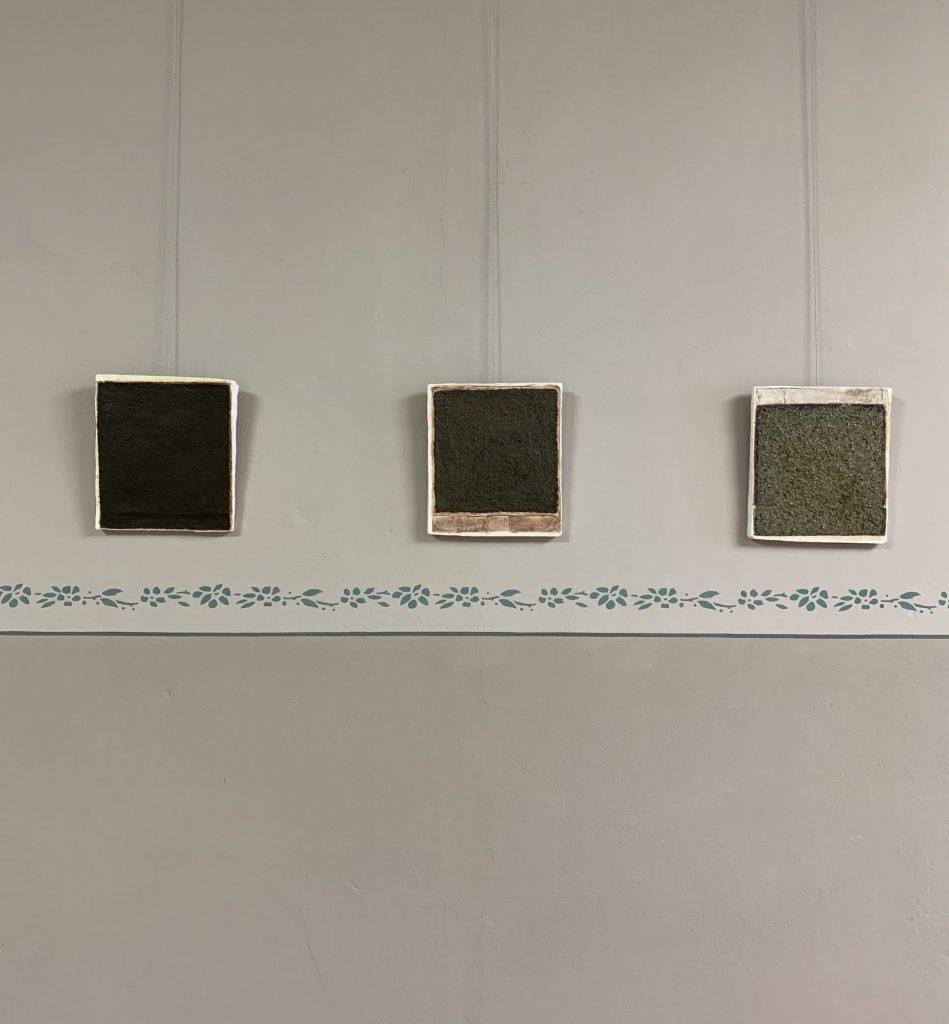 Detail, plaster, natural materials, ea. 30x35 cm, 2019, Sophia Solaris