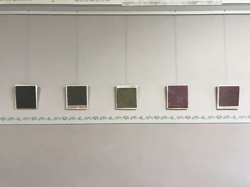De t a i l  1 - 5 / 1 8 , plaster, natural materials, Museum of Art Malchow, 2019, Sophia Solaris