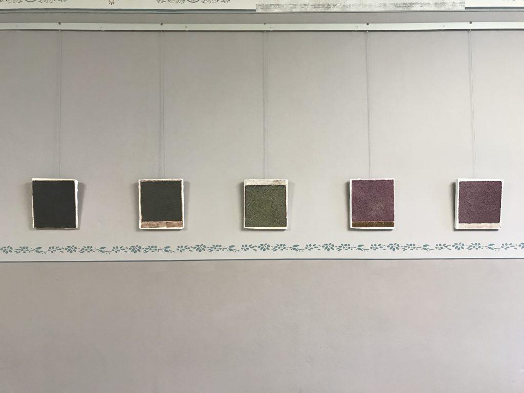 De t a i l  1 - 5 / 1 8 , plaster, natural materials, Museum of Art Malchow, 2019, Sophia Solaris
