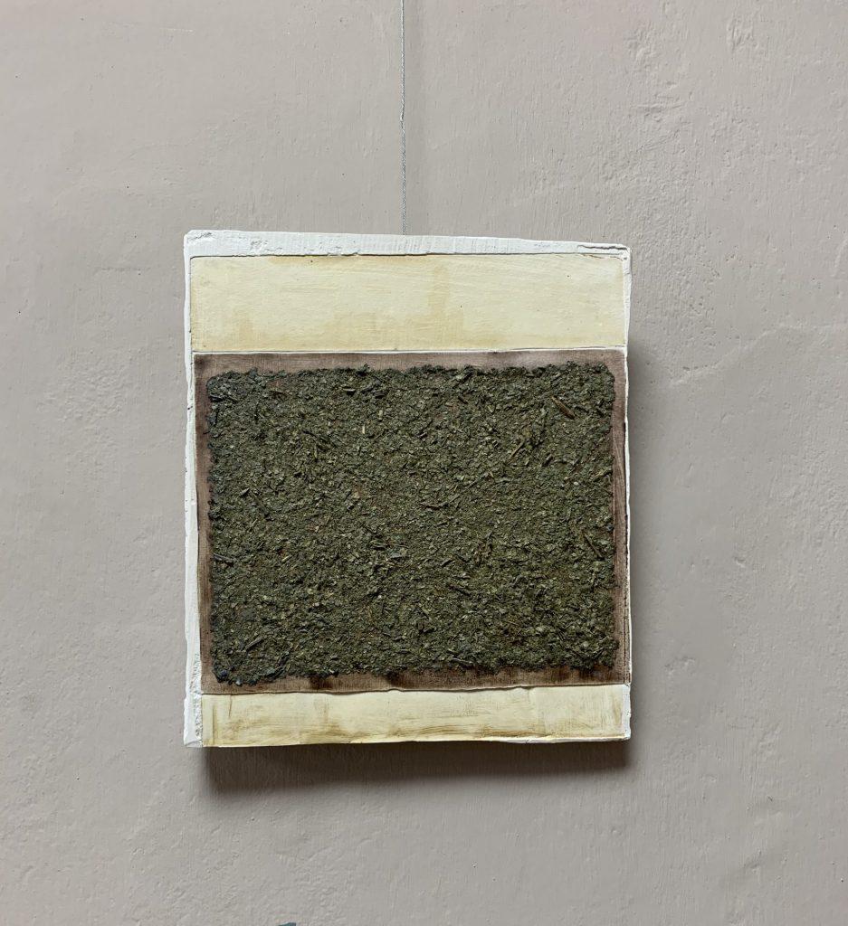 2/18, plaster, natural materials, ea. 30x35 cm,2019, Sophia Solaris